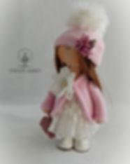 Handmade doll in pink coat 1.jpg