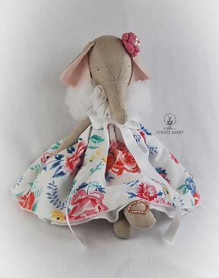 Handmade Elephant in floral dress 7.jpg