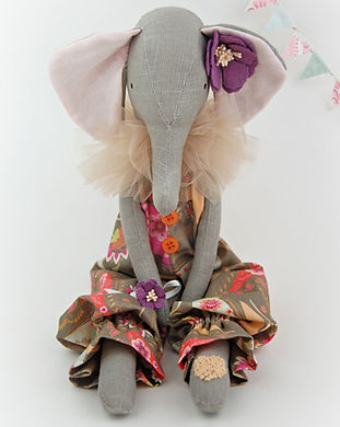 Handmade Elephant in trouser suit & flow