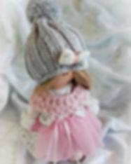 Handmade Tilda Doll with white heart - o