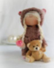 Handmade Teddy Bear Doll - hood one 2.jp