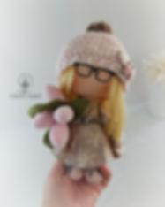 Handmade Doll with pink tulips 2.jpg