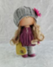 Handmade Doll with Green Love Heart 2 (1