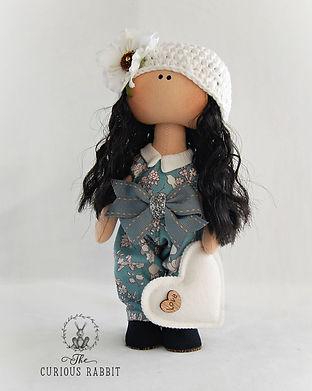 Handmade Doll with White Felt Heart 5.jp