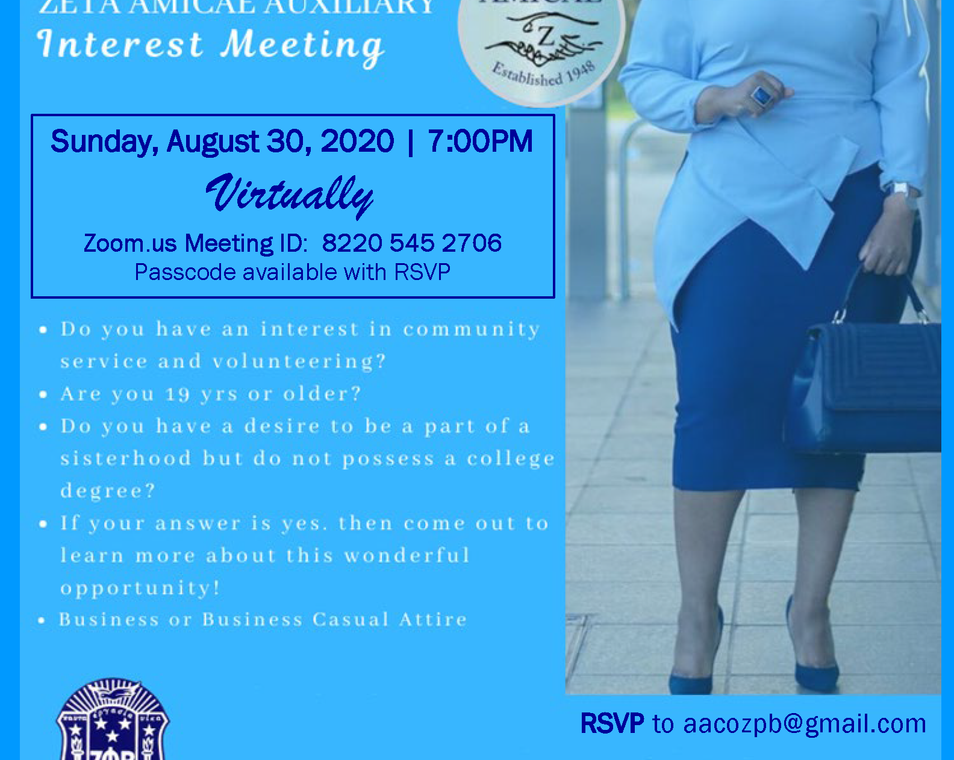 Amicae Interest Meeting Flyer Aug30-2020