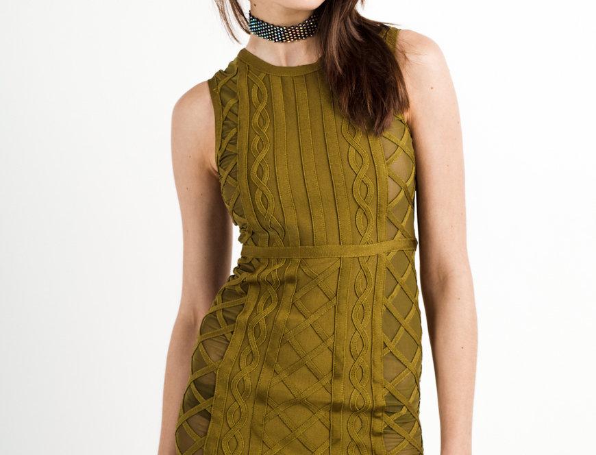BIONDA | Bandage and mesh dress