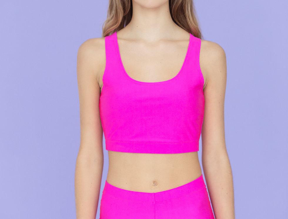 NEON | Pink crop top