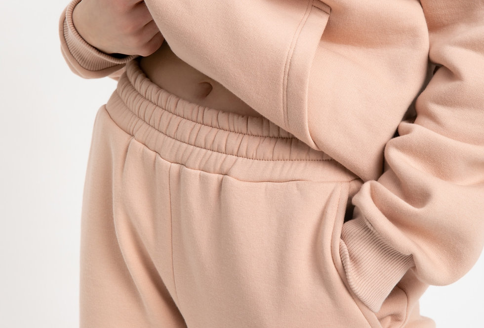 CLASSIC | Nude track pants