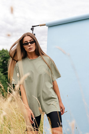 KISSED | Khaki cotton t-shirts