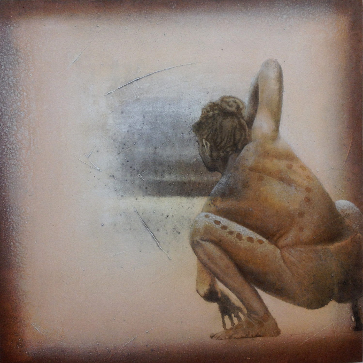 Looking for II  120 x120 cm