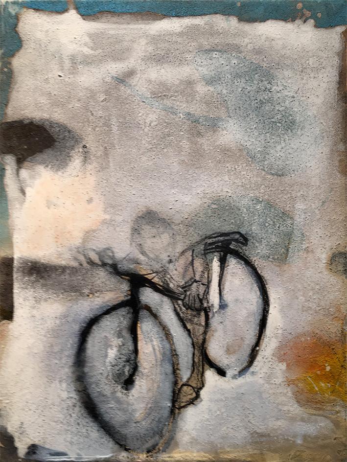Im Unsichtbaren 40x30 Naturfarben/ Acryl