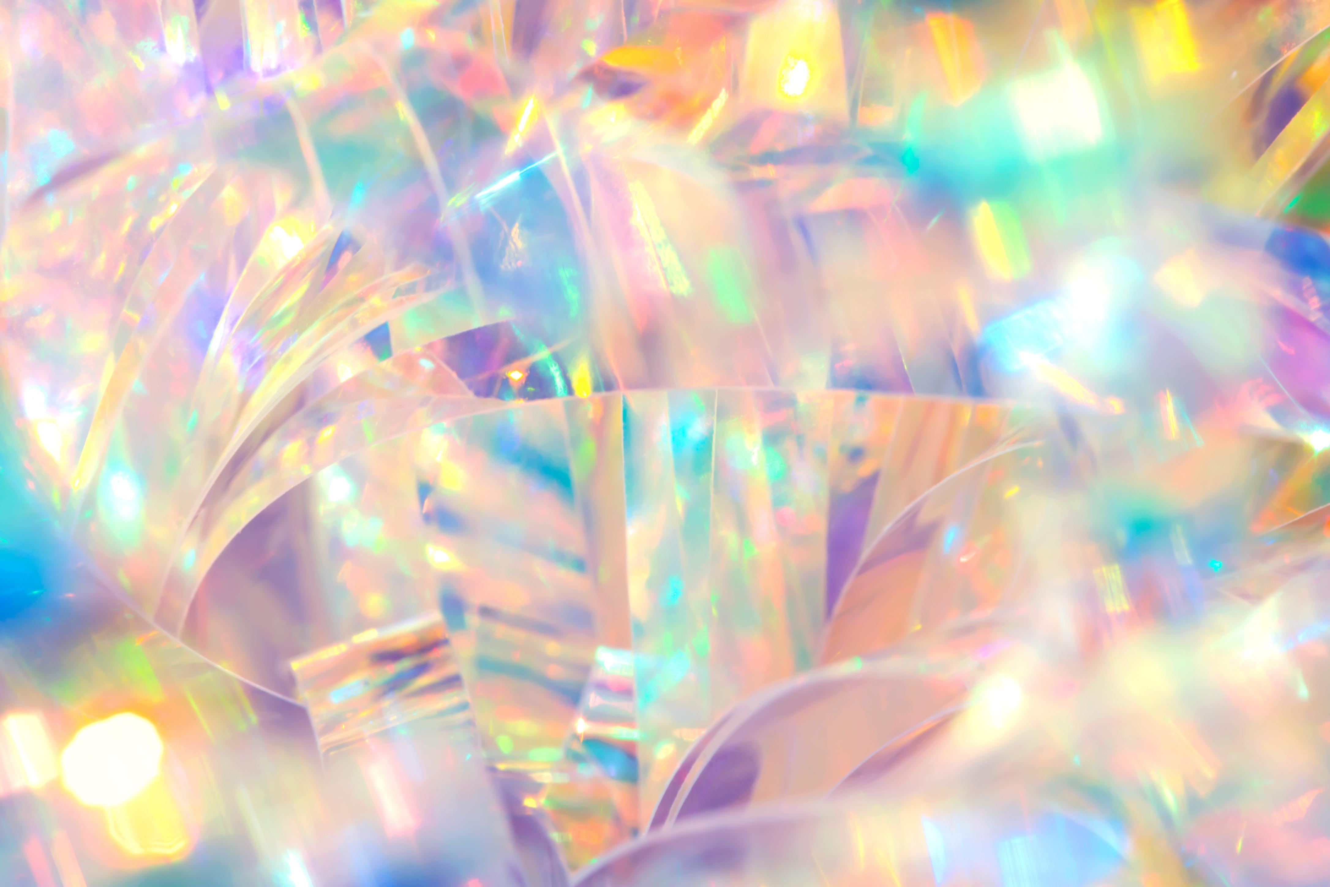 Abstract radiant cheerful disco fun wall