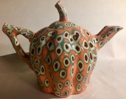 Handbuilt Slipware Teapot