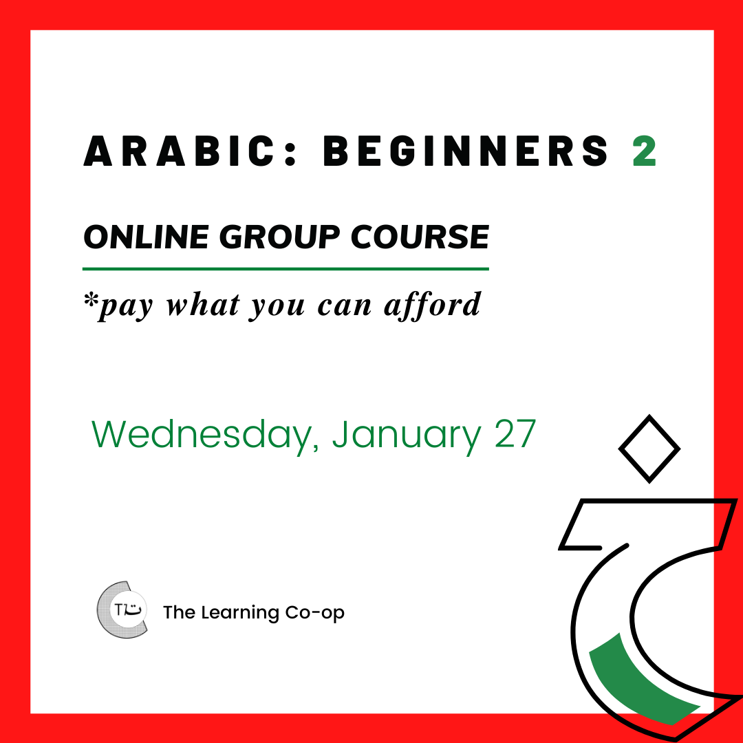 Arabic Beginners 2: Group Course
