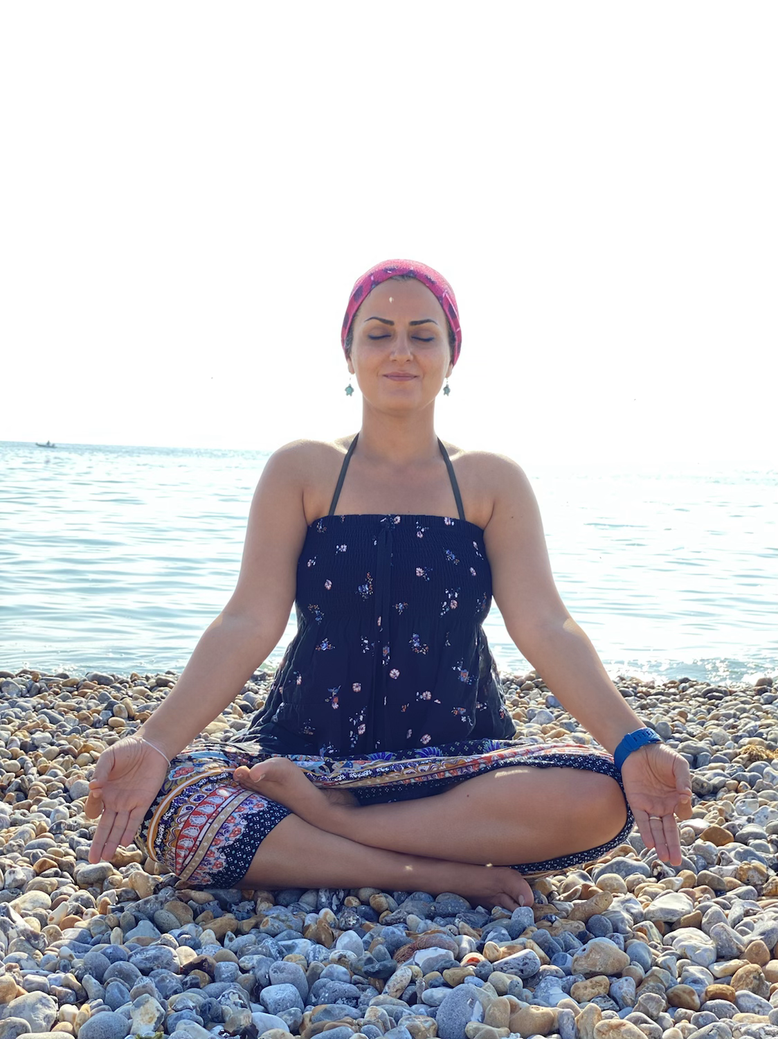 Meditation by the beach