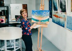 Bahar's art studio