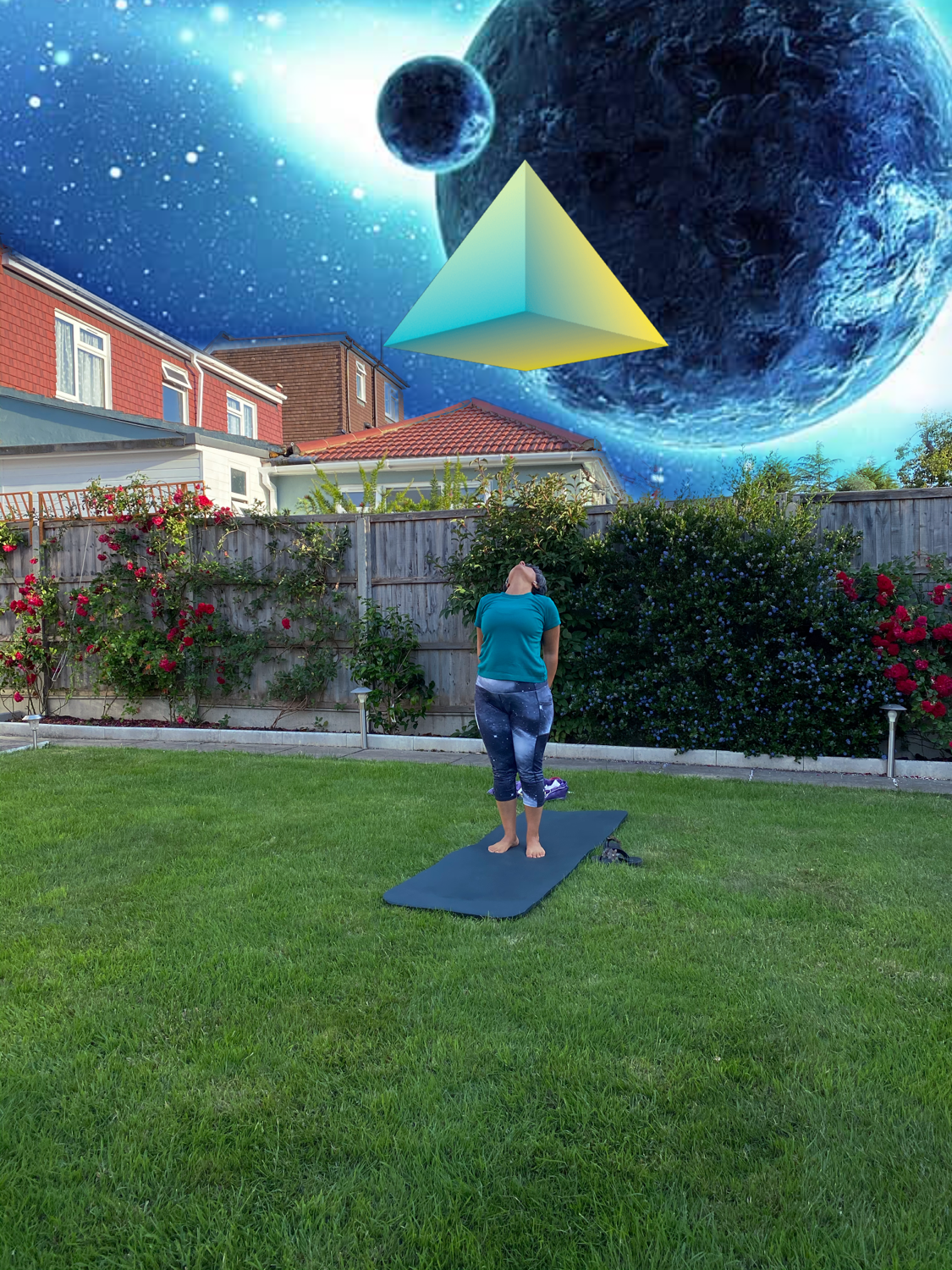 Kundalini yoga in the garden