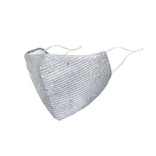 Reiki Sequin Face Mask - Grey