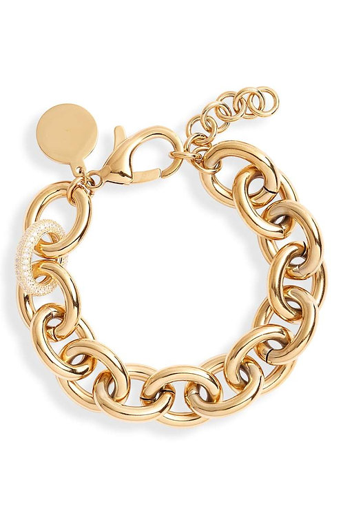 Chunky Chain Bracelet Rose Gold Tone