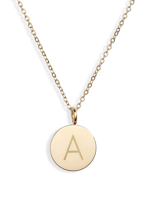 Luxe Charmy Initial Pendant Necklace   A-Z gold tone
