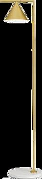 luminaria de piso dourada arquiteto virt