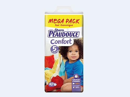 PEAUDOUCE CONFORT TAILLE 5 mega pack 40 pièces
