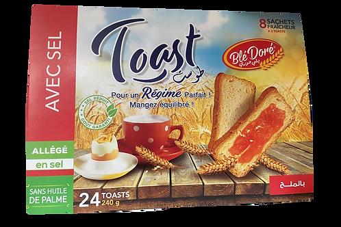 Pain toast en sel sans huile de palme