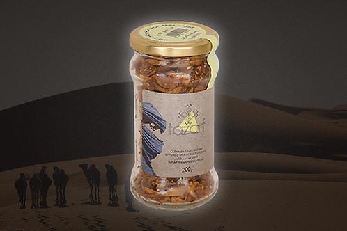 Cubes de figues séchées aux fruits secs et à huile d'olive - Pot en verre 200g
