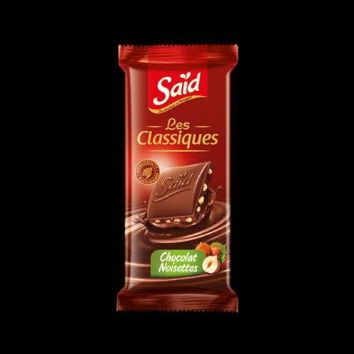 Chocolat aux noisettes said les classiques 75g