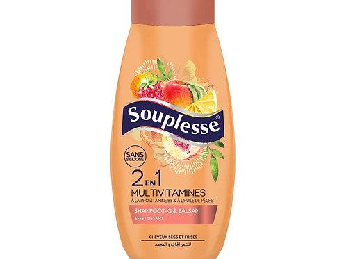 shampoing 2en1 multivitamines Souplesse