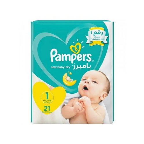PAMPERS New Baby taille 1 - 21 Pièces
