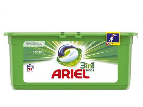 Doses de lessive liquide 3 in 1 Ariel Pods 27 Original