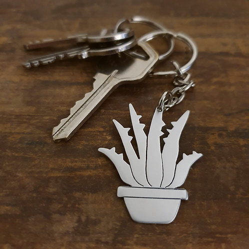 Potted Plant Key Chain - Aloe Vera