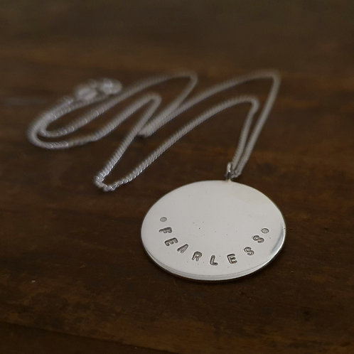 Sterling Silver Large Round Necklace