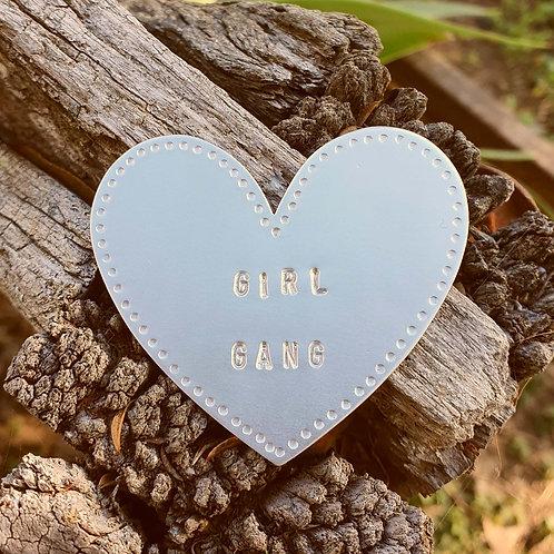 Heart Brooch - Girl Gang