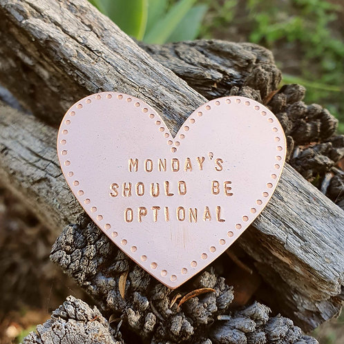 Heart Brooch - Monday's Should Be Optional