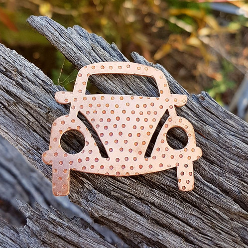 VW Beetle Car Brooch