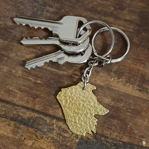 Collie Head Key Chain