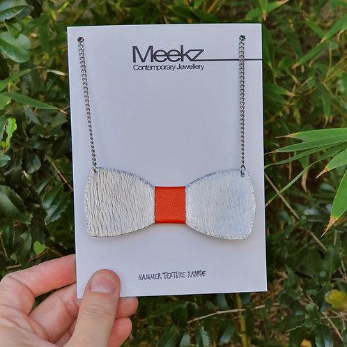 Small Bow Tie Necklace - Orange