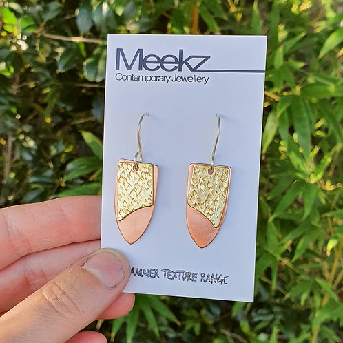 Double Drop Earring - Shield