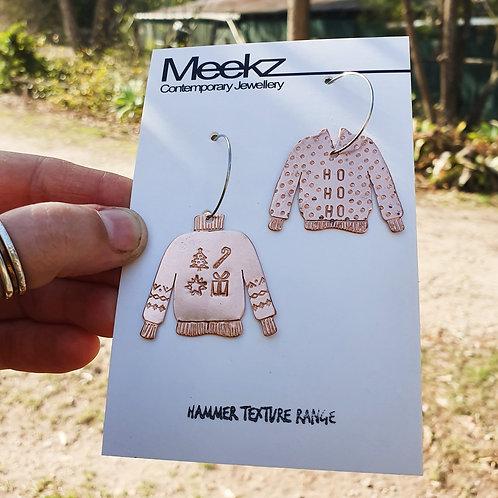 Ugly Sweater Hoop Earrings