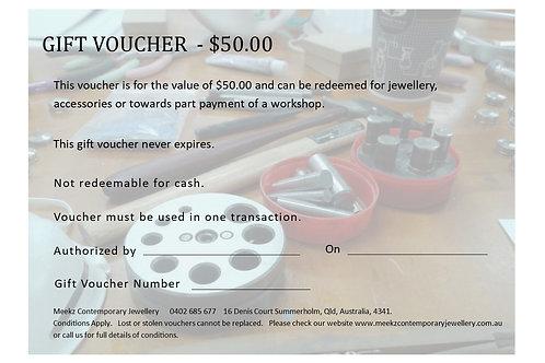 GIFT VOUCHER $50 - $100