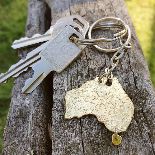 Australiana - Australia Map Key Chain