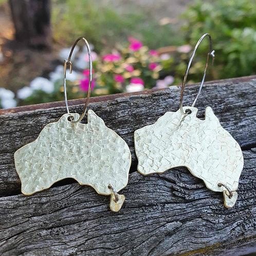 Australiana - Australia Map Earrings