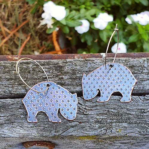 Australiana - Wombat Earrings
