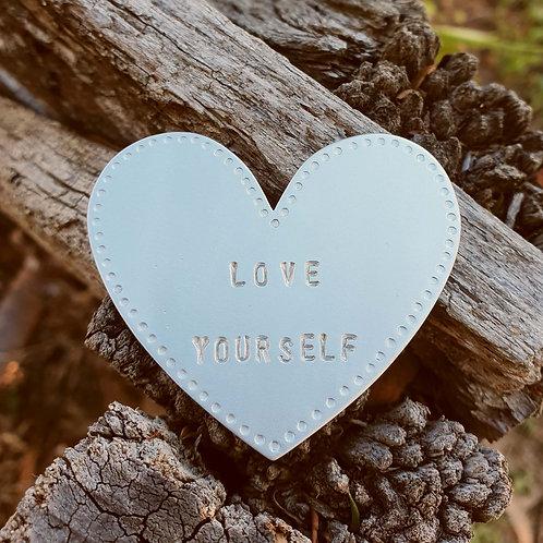 Heart Brooch - Love Yourself