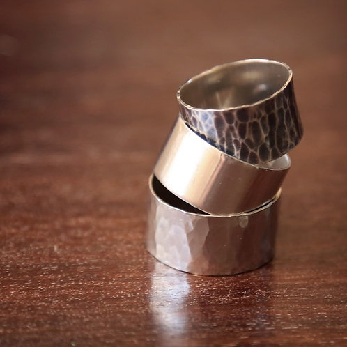 STERLING SILVER 10mm BAND