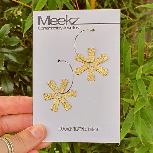 Spiky Flower Hoop Earrings
