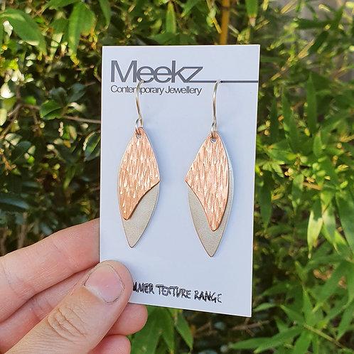 Double Drop Earrings - Leaf