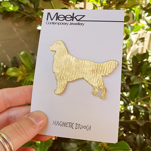 Golden Retriever Dog Brooch